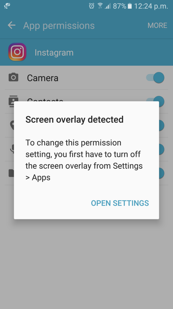 how to turn off screen overlay s5