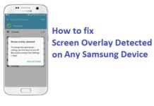 screen overlay detected samsung